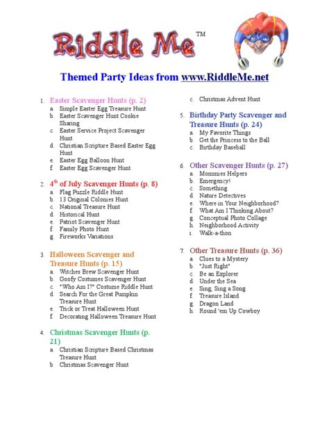 birthday themed riddles riddle me party ideas mary mother of jesus jesus