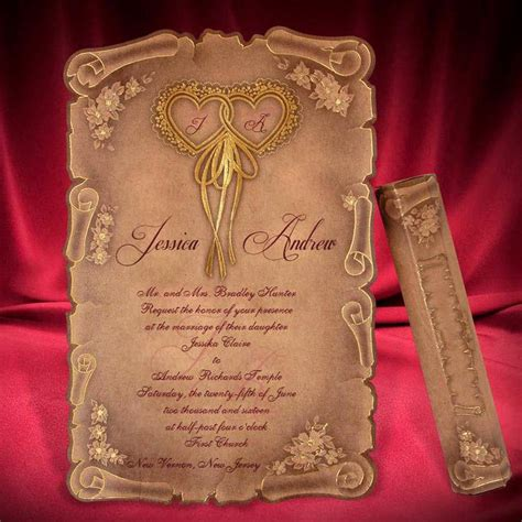 Wedding Invitation Card Style by Scroll Wedding Invitation Card Creative Personalized