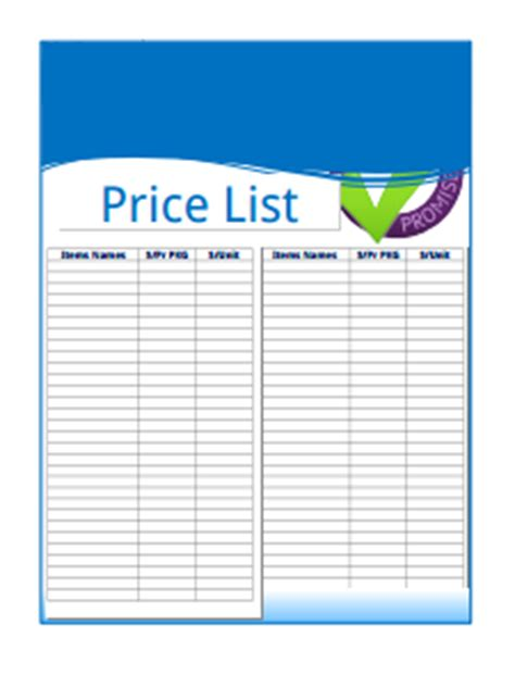 price list design template proforma invoice template free create edit