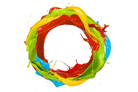 paint splash colors design spray drops circle ring hd