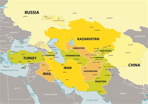 central asia map map of central asian countries driverlayer search engine