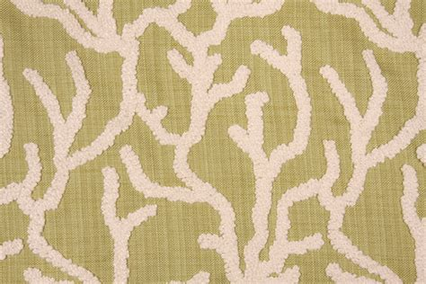 Embroidered Upholstery Fabric by Mill Creek Pulau Boucle Embroidered Upholstery Fabric In Grass