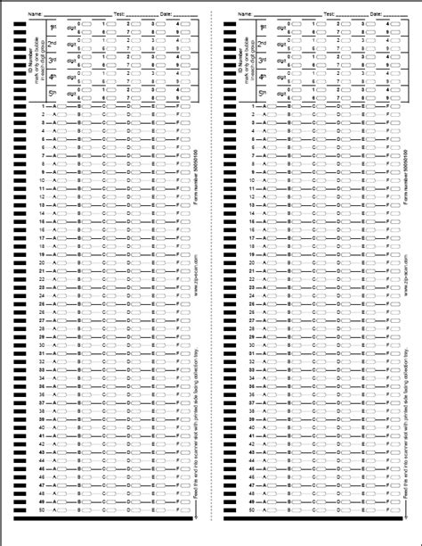 quiz answer sheets template search results for bubble in answer sheet printable