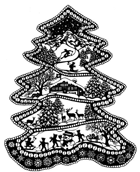 weihnachtsbaum a6 esther gerber scherenschnitte