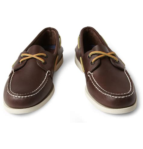 best sailing shoes lyst sperry top sider leather boat shoes in brown for
