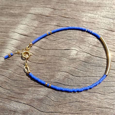 Bracelet fin en perles Miyuki 11/0 et fermoir en gold filled : Bracelet par missmel   Mes petits