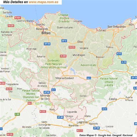 el pais vasco mapa pais vasco euskadi carreteras y planos espa 241 a