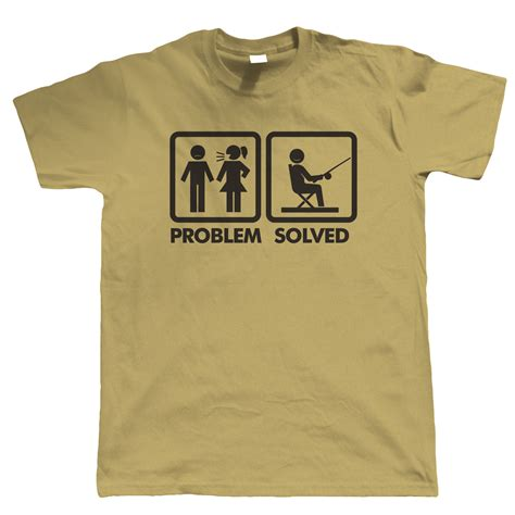 Kaos T Shirt Problem Solved problem solved mens fishing t shirt gift for