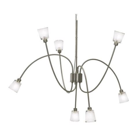 Ikea Lighting Pendant Ikea Kryssbo Chandelier Light Pendant L Glass Nickel Steel Adjustable 7 Arm