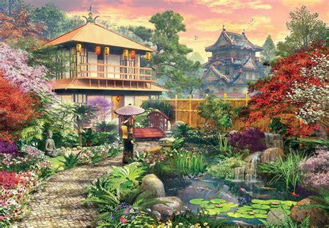 Garden Puzzle by Japanese Garden Jigsaw Puzzle Puzzlewarehouse