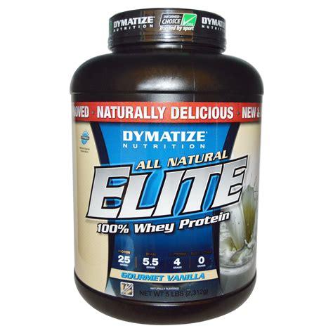 Elite Whey 5 Lbs dymatize nutrition all elite whey protein gourmet vanilla 5 lbs 2 312 g iherb