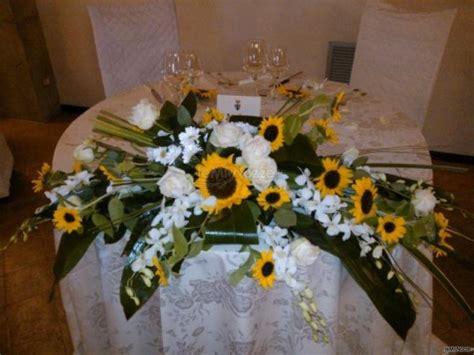 addobbi tavolo sposi addobbo girasoli tavoli sposi casa fiore di luca