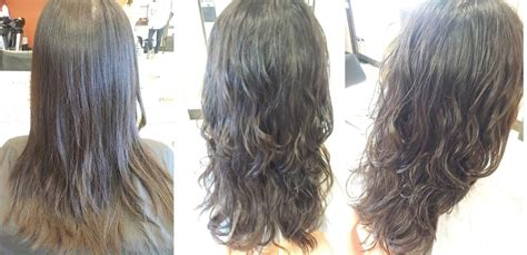 before and after of perms on thin hair digital perm before and after loose curls yelp