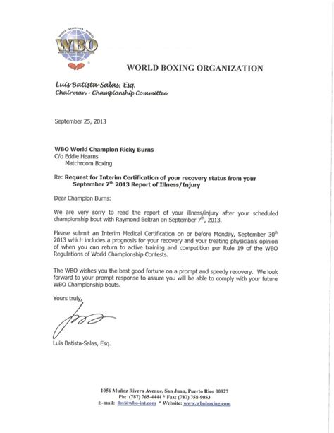 certification letter for equipment wbo ricky burns interim certification request wbo