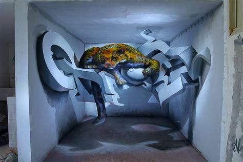 3d murals incredibly bad ass 3d graffiti murals by odeith