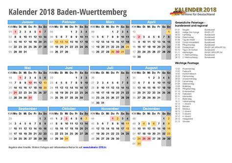 Kalender 2018 Baden Württemberg Zum Ausdrucken Kalender 2018 Baden W 252 Rttemberg Zum Ausdrucken 171 Kalender 2018