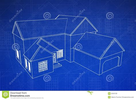 blue prints for a house 3d house blueprint royalty free stock images image 2645109