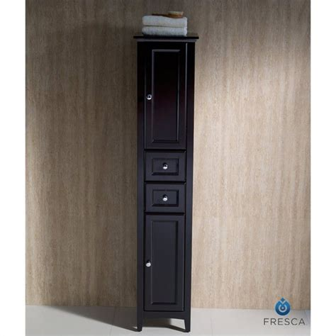 tall linen cabinets for bathroom fresca oxford tall bathroom linen cabinet in espresso
