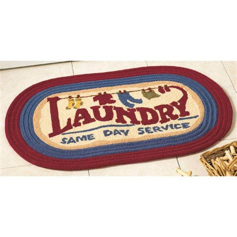 Laundry Room Floor Mat by Laundry Room Rug 31x20 Oval Floor Mat Country Decor New