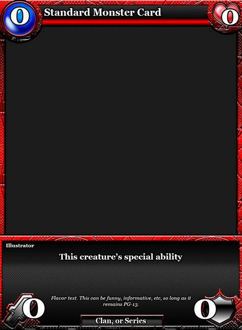 battle of the warlords card template by classysecretagent