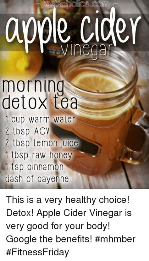 Morning Detox Tea Apple Cider Vinegar by Apple Vinegar Morning Detox Tea 1 Cup Warm Water 2 Tbsp
