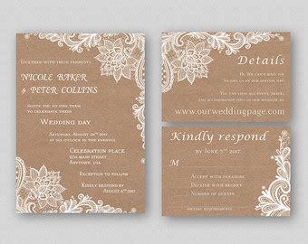 items similar to rustic wedding invitation template vintage modern printable diy wedding