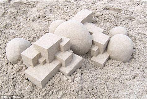 calvin seibert calvin seibert photographs show artist s amazing geometric sandcastles daily mail