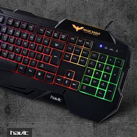 Keyboard Mouse Combo Gaming Havit Hv Hv Kb104cm havit rainbow backlit wired gaming keyboard and mouse combo black 2016 model