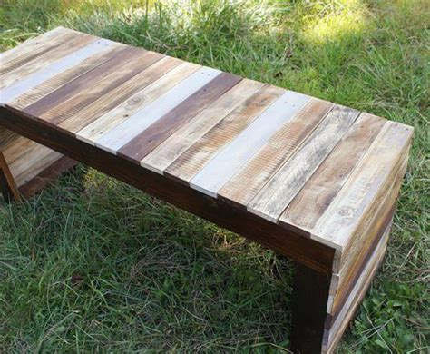 wood pallet benches recycled pallet wood table or bench 101 pallets