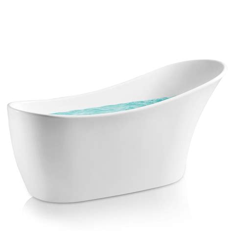 white bathtub bathtub acrylic freestanding white curved