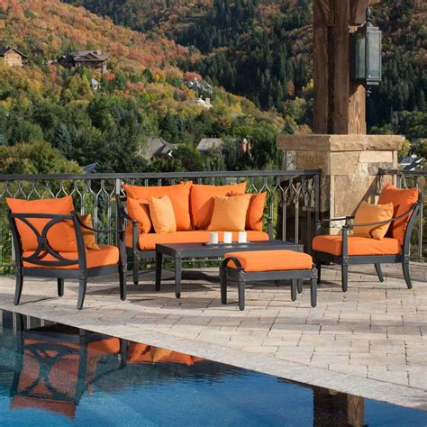 Orange Patio Furniture Orange Patio Conversation Sets Outdoor Lounge