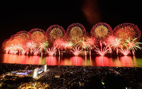 video new year fireworks brazil welcomes olympic new
