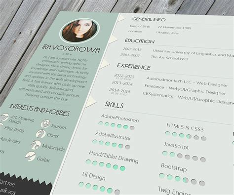 Free Cool Resume Templates by 35 Best Free Resume Design Templates Themecot