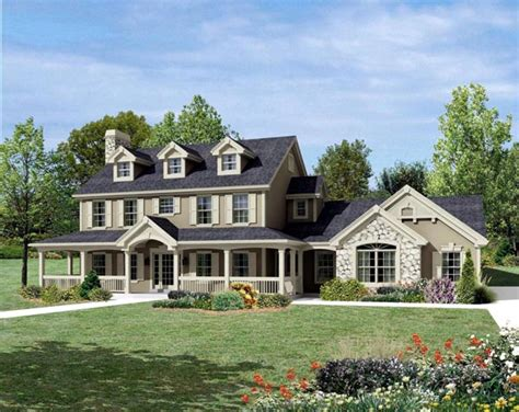 country farmhouse plans house plan 95822 cape cod colonial country farmhouse