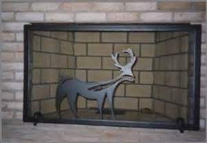 Deer Fireplace Screen by Jeff Fetty Designs Designer Artist Blacksmith Creator