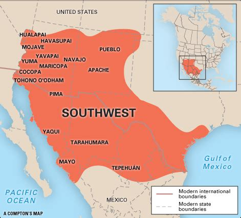map of southwest usa and mexico americans southwest culture area