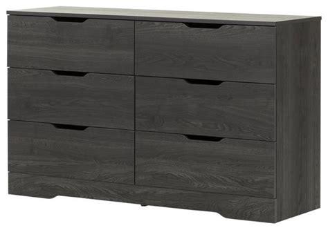 Gray Oak Dresser by South Shore 6 Drawer Dresser Gray Oak