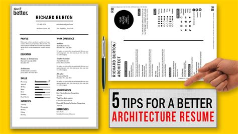 5 Tips for a Better Architecture Resume CV / Free Template