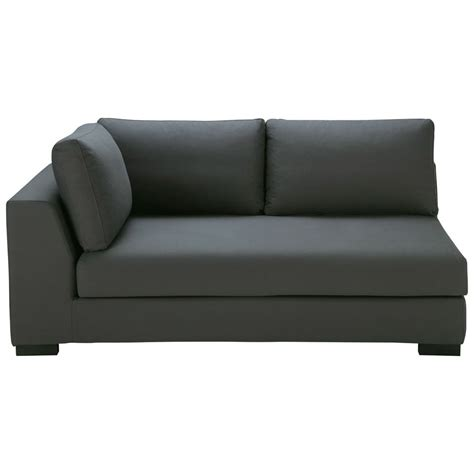 slate grey cotton modular sofa left armrest terence