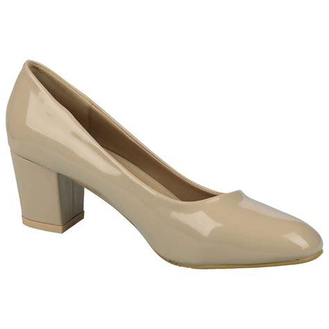 Toe Block Heel Court In Khaki by Womens Shoes Low Chunky Block Heels Toe Court