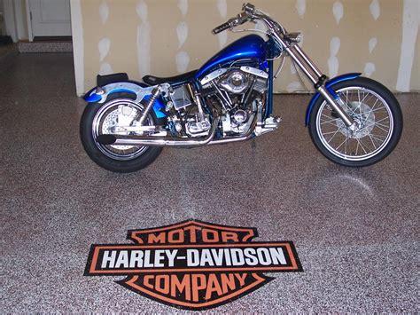 Garage Floor Decals by Decorative Mosaic Garage With Glitter Harley Davidson