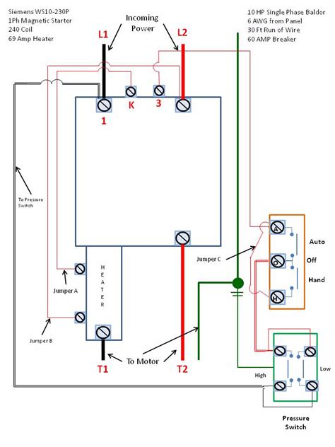 single phase motor starter wiring diagram efcaviation