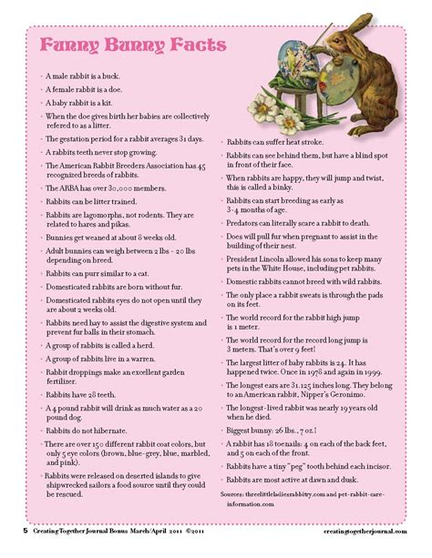 easter famous rabbits trivia 3 95 easter printable creating together journal funny bunny facts