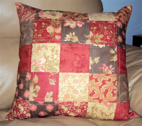 Quilt Pillow by Quilted Throw Pillow Cover