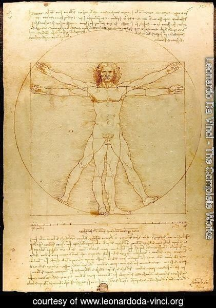 leonardo da vinci biography and works leonardo da vinci the complete works vitruvian man
