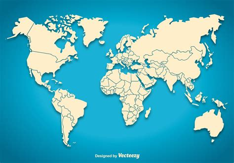 world map vector world map silhouette free vector stock