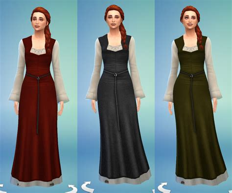 Cc Dress ts4 celtic dress number 2 history lover s sims