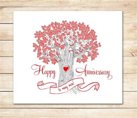 happy anniversary card template printable anniversary card fast anniversary card diy