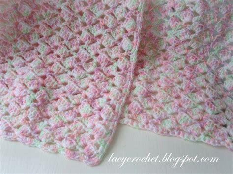 Babybee Blanket Blue summer baby blanket in variegated yarn free pattern