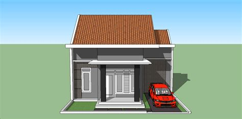sketsa sederhana rumah minimalis 4